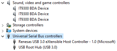 Three working TV Tuners & a USB Controller shown in Device Manager