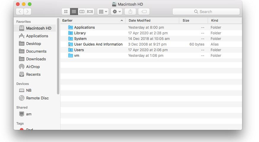 macOS Finder favourites after shell redirection