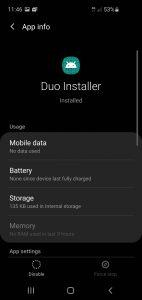 Duisable Google Duo screenshot